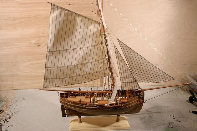 Making Silkspan Sails US Lauck Street Shipyard