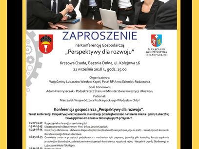 Konferencja gospodarcza w Kresowej Osadzie w Baszni Dolnej