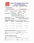 China visa order form