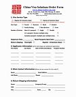 China visa order form