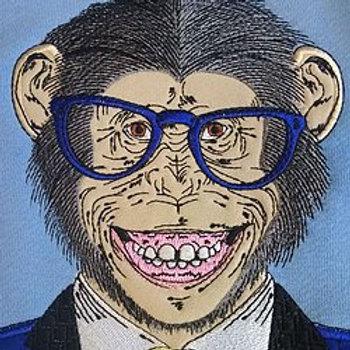 Свитшот с вышивкой и аппликацией Monkey
