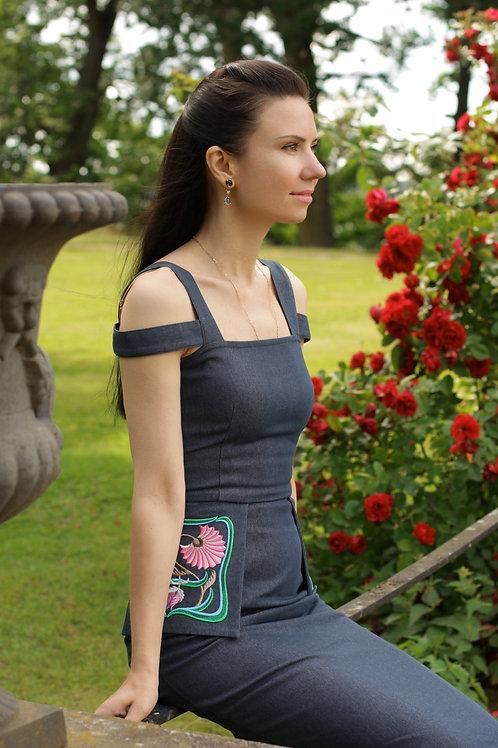 Джинсовое платье ADECO