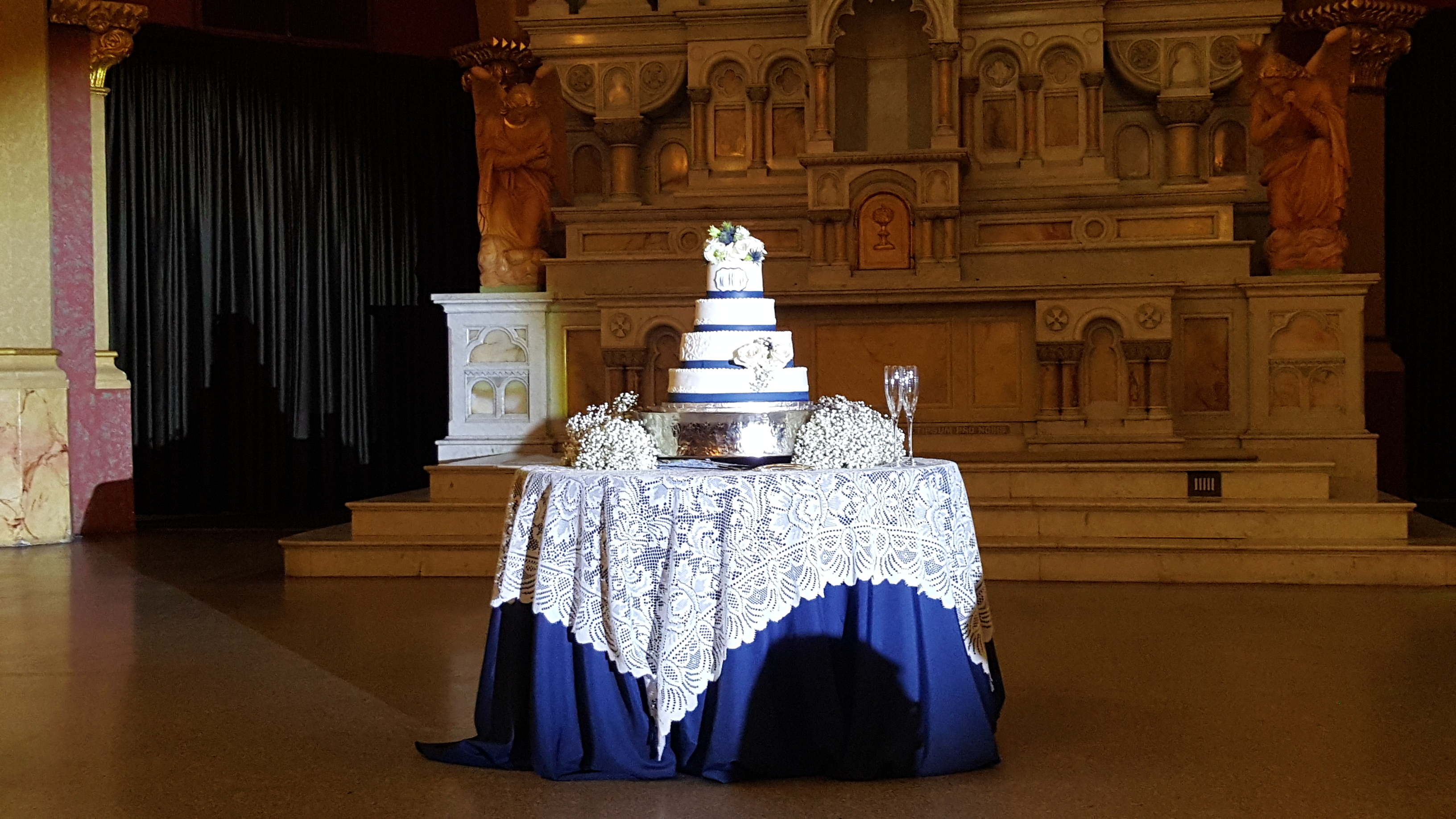 Cake Spotlighting at Sacred Heart