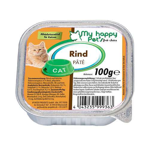 My Happy Pet'S  First choise Katzenfutter mit Rind