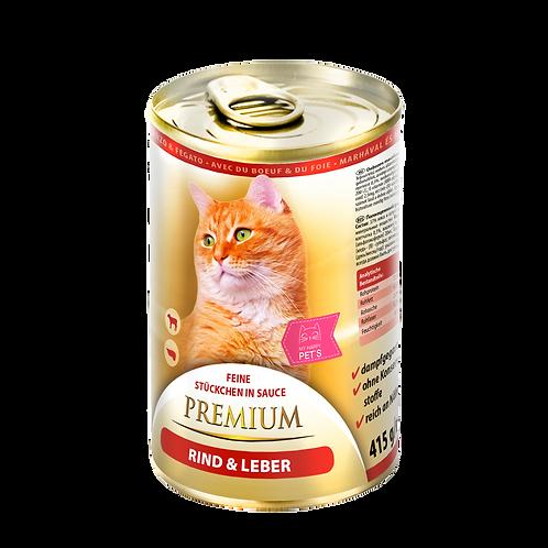 My Happy Pets Rind & Leber Premium 415g Dose