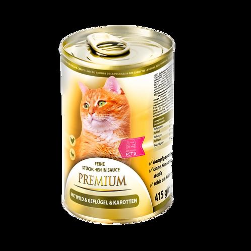 My Happy Pets Wild,Geflügel&Karotten Premium 415g