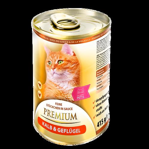 My Happy Pets Kalb & Geflügel Premium 415g Dose
