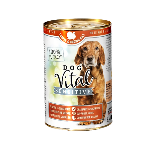 Dog Vital Sensitive Hundefutter Pute & Naturreis