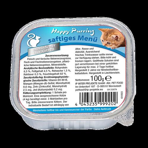 Happy Purring Katzenfutter saftiges Menü 100 g