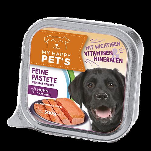 My happy Pets Hundefutter Huhn feine Pastete 300g 0.3 kg (2,17 € / 1 kg)