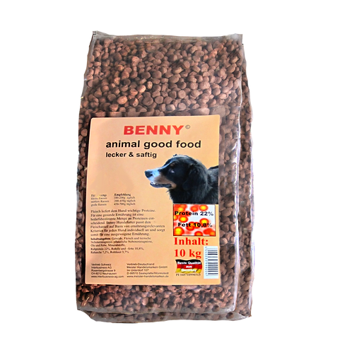 Benny Hunde Trockenfutter 10kg große Brocken
