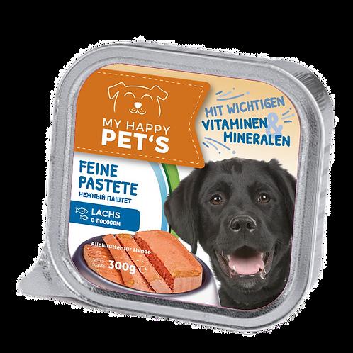 My happy Pets Hundefutter Lachs feine Pastete 300g 0.3 kg (2,17 € / 1 kg)