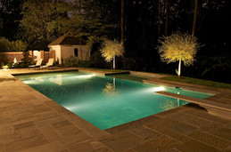 formal pool at night