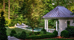 formal pool in wooded area