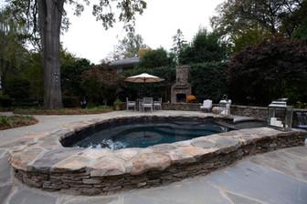 spa & fireplace