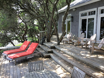 deck under live oaks