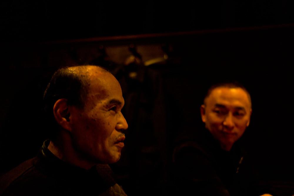 金子俊男さんと私、東海林。