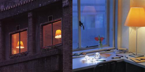 2001年発足当時のライトデザイン。(左)奧野ビル外観より撮影(右)ライトデザイン事務所窓辺 photo by Toshio Kaneko