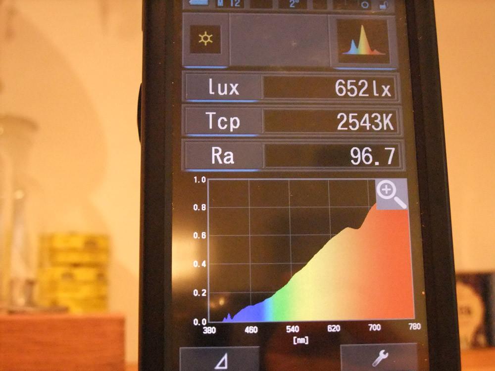 分光照度計のモニター