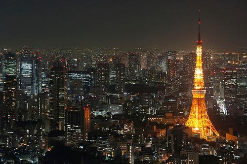 東京タワーが見える東京の夜景