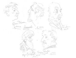 Тюменские художники (наброски).