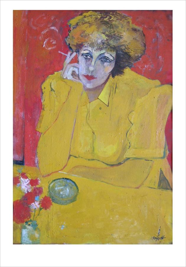 Август (Ольга в жёлтом. 1989