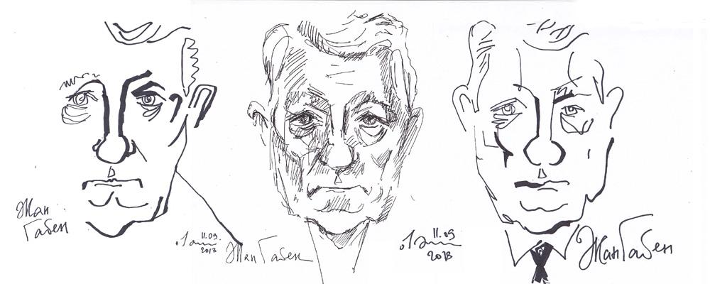 Жан Габен (три портрета). 2013
