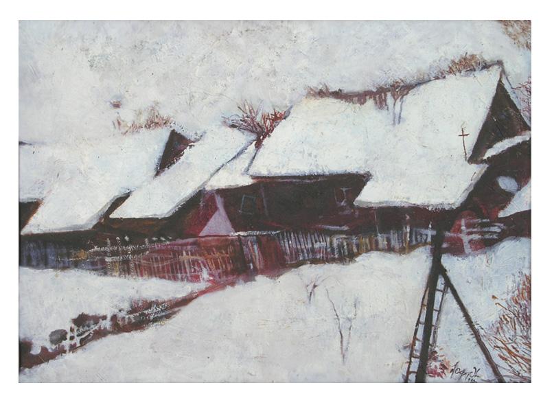 Зима (Дом на дне оврага).1988