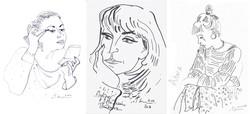 Три женских портрета (Оксана Костко, Наталья Питкевич, Алиса). 2010-17
