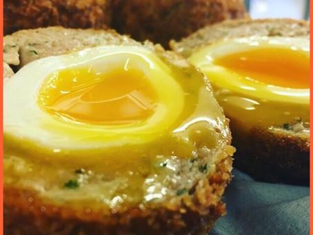 Haggis Scotch Eggs (gluten free)