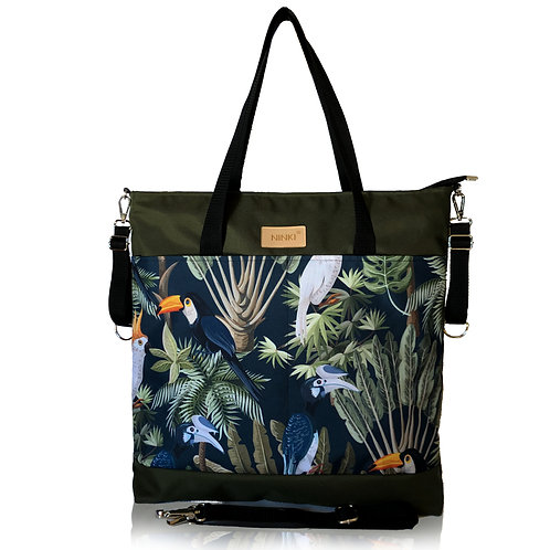 Kopia wodoodporna torba do wózka - shopper (dżungla - khaki)