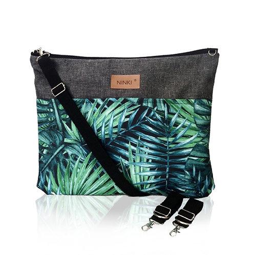 wodoodporny organizer do wózka (zielone liście palmowe - ciemny szary )