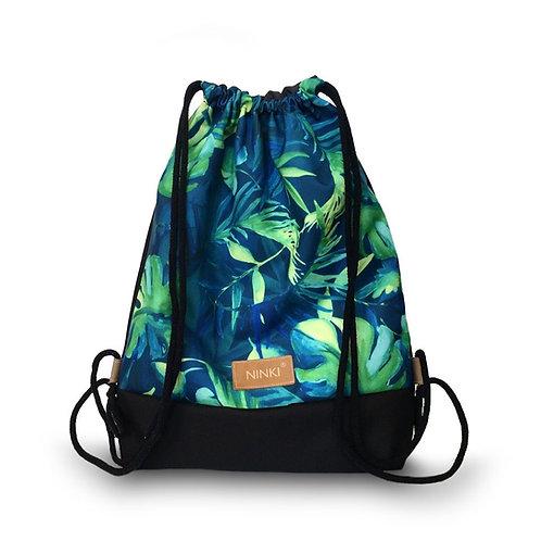 worko - plecak poliester (zielona monstera - czarny)