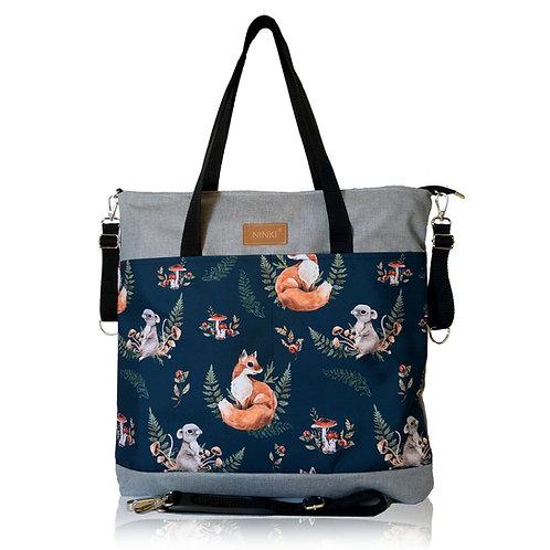 wodoodporna torba do wózka - shopper (fox - jasno szara)