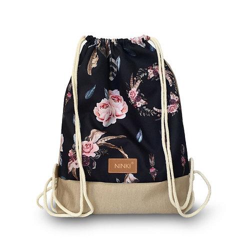 worko - plecak poliester (łapacze snów z różowymi kwiatami)