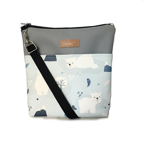 torebka dla dziewczynki ekoskóra (miś polarny)