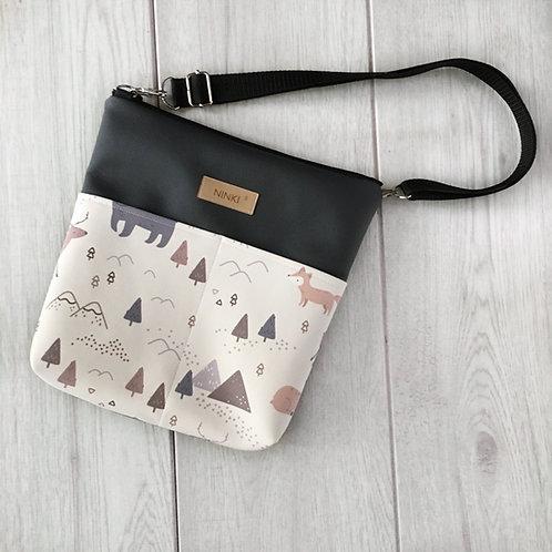 torebka dla dziewczynki ekoskóra (zwierzątka w górach)