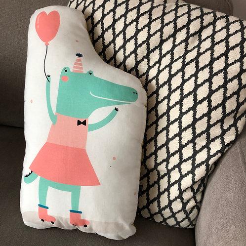 poduszka dekoracyjna - krokodylek