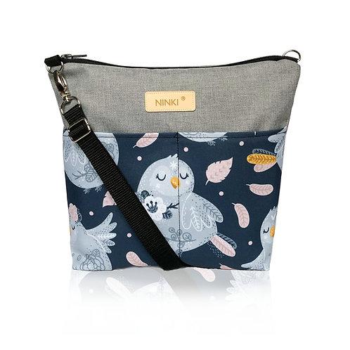 wodoodporna torebka dla dziewczynki (niebieski ptak na granatowym tle)