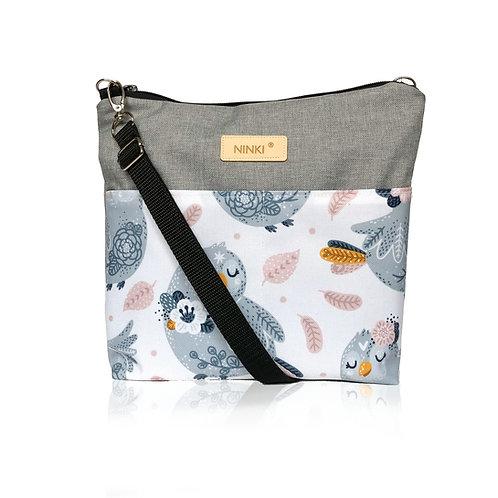 wodoodporna torebka dla dziewczynki (niebieski ptak na białym tle)
