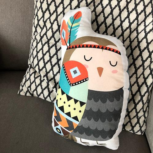 poduszka dekoracyjna - indiańska sowa