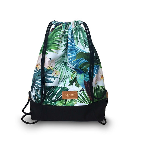 worko - plecak poliester (tropiki - czarny)
