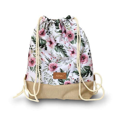 worko - plecak poliester (garden biały)