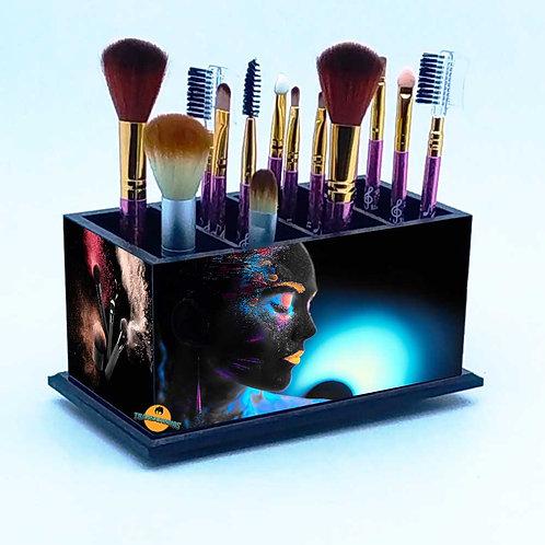 Porta Pincel De Maquiagem Personalizado Preto