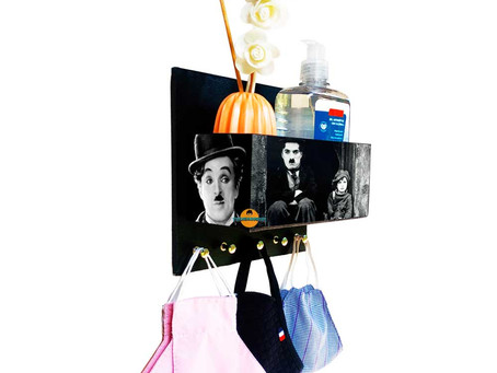Porta Máscaras Personalizado C/ Organizador Chaplin