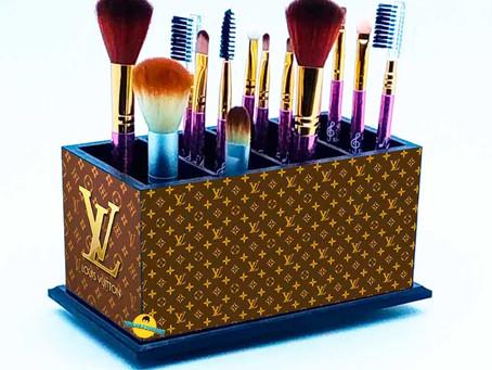 Porta Pincel De Maquiagem - Decoração Louis Vuitton Lv