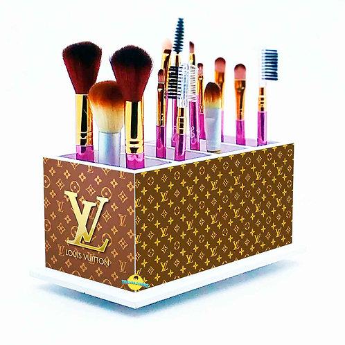 Porta Pincel De Maquiagem Decoração Louis Vuitton Lv m2