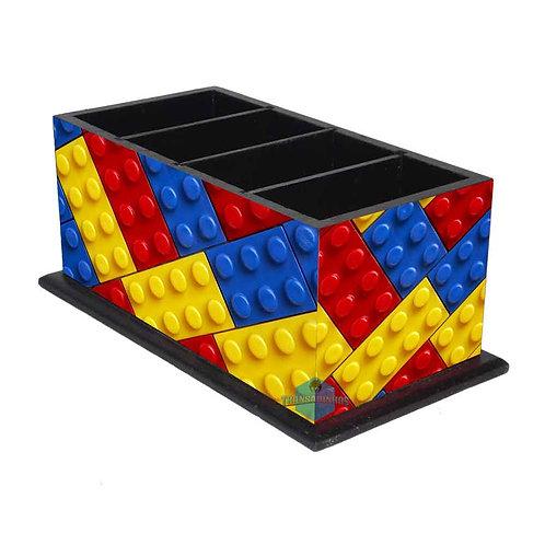 Porta Controle Remoto Lego