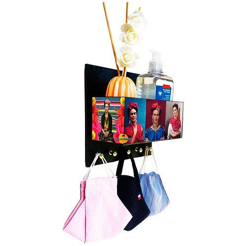 Porta Máscaras c/ Organizador Frida Kahlo