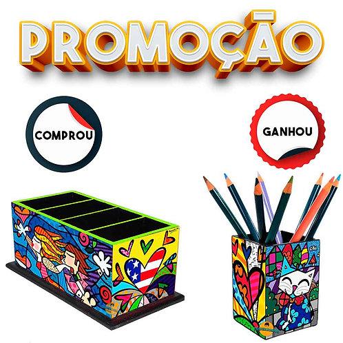Porta Controle Remoto Decoração- Romero Britto Mod. 4 + Brinde